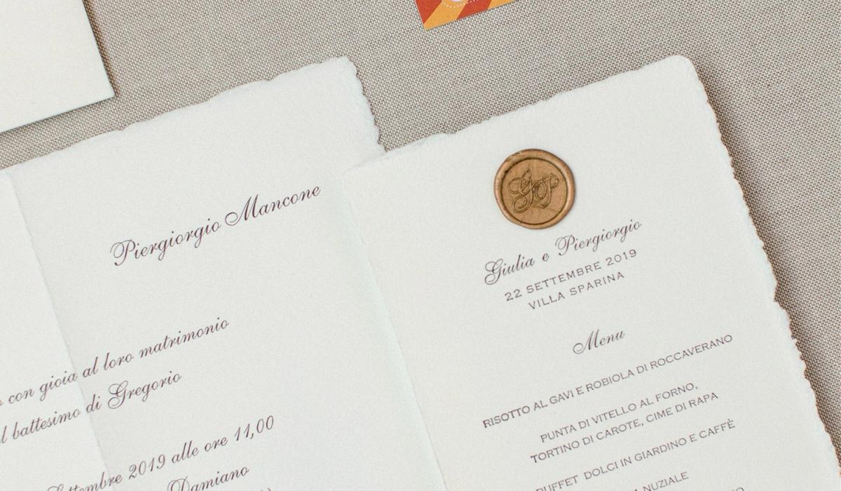 Coordinato per matrimonio - Calligrafia Personalizzata a Torino